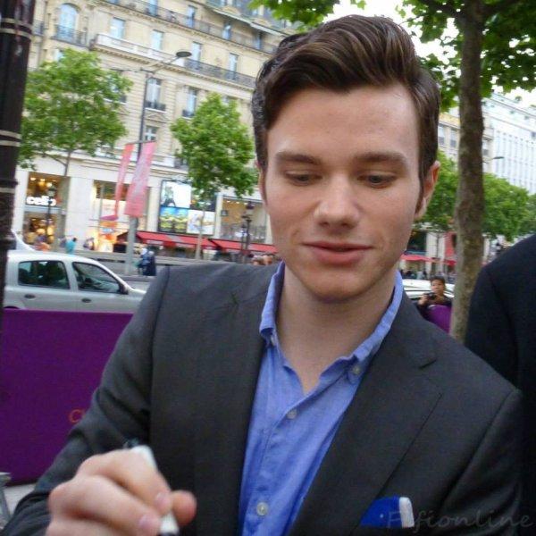 Avant première de Chris au Champs Elysée le 12 juin