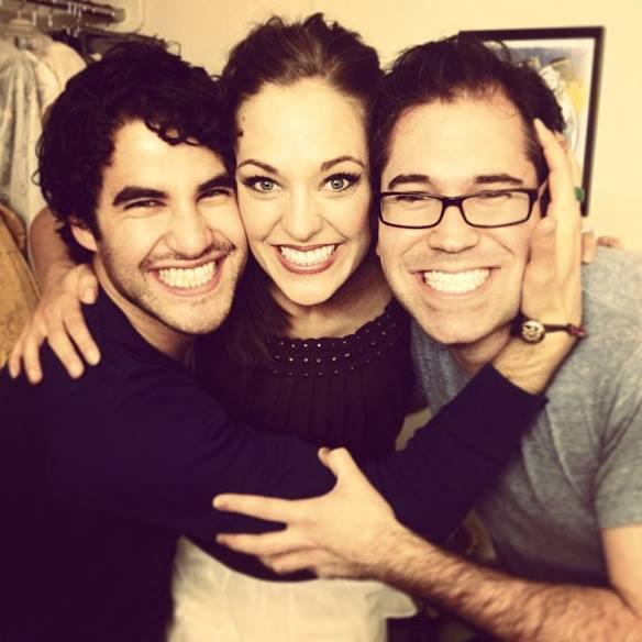"""Darren dans les coulisses de """"cinderella"""" (Cendrilon) à Broadway"""