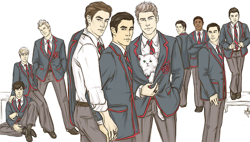 Dessins/fanart du Glee cast