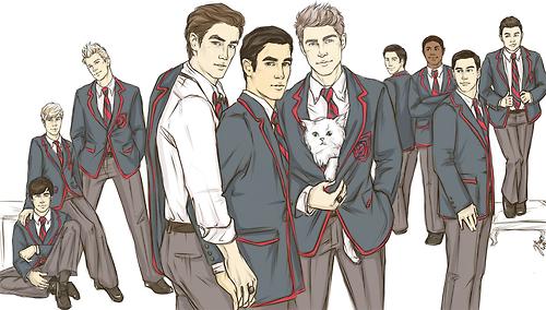 Dessins/fanart du Glee cast