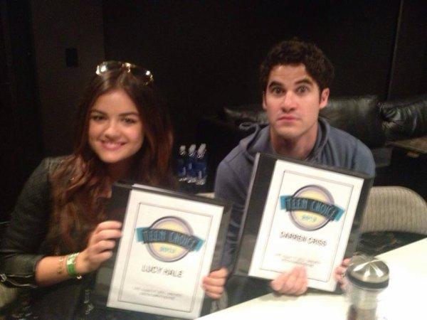 Darren & Lucy Hale pendant les répétitions des Teen Choice Awards 2013 le 10/08/2013