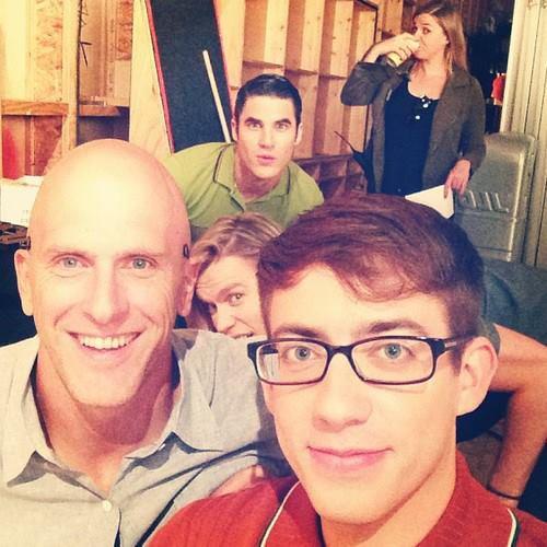 Darren sur le tournage de Glee saison 5