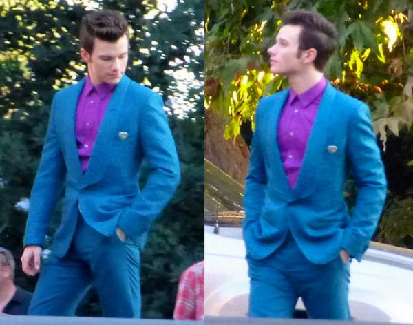 Darren et Chris sur le tournage de Glee saison 5
