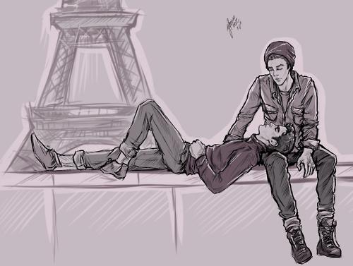Dessin Blaine et Sebastian
