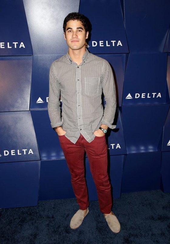 Darren Criss à la célébration de la compagnie aérienne 'Delta Airlines'