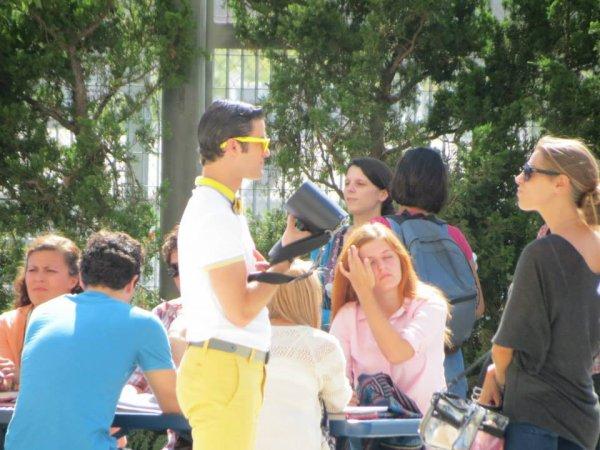 Sur le tournage de la saison 5 de Glee