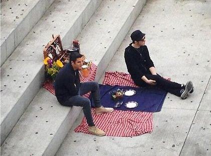 CrissColfer sur le tournage de Glee saison 5
