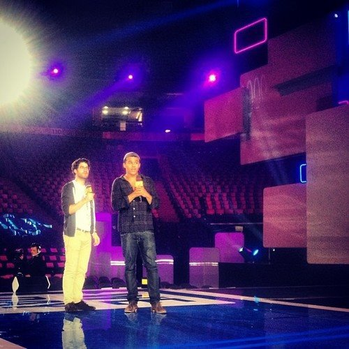 Darren et Jacob au We Day à Toronto le 20/09/2013