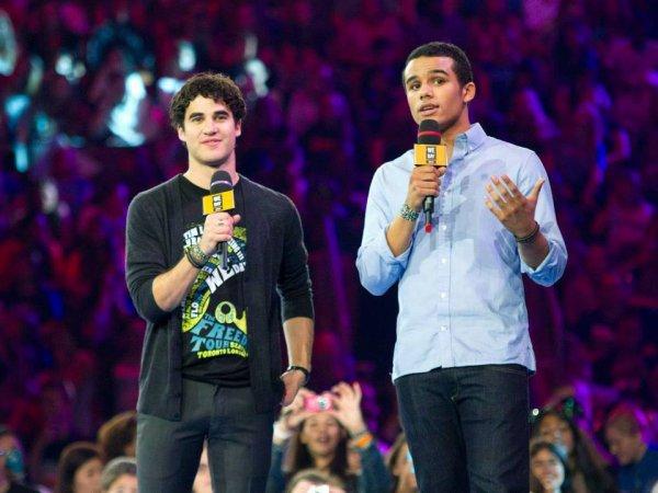 Darren et Jacob au We Day à Toronto le 20/09/2013