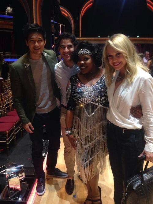 "Darren a supporté Amber dans ""Danse Avec Les Stars"""