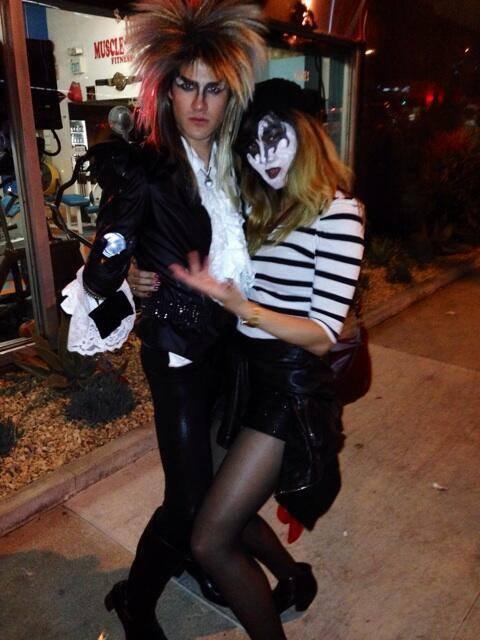 Darren pour Halloween avec Mia et Charlene Kaye