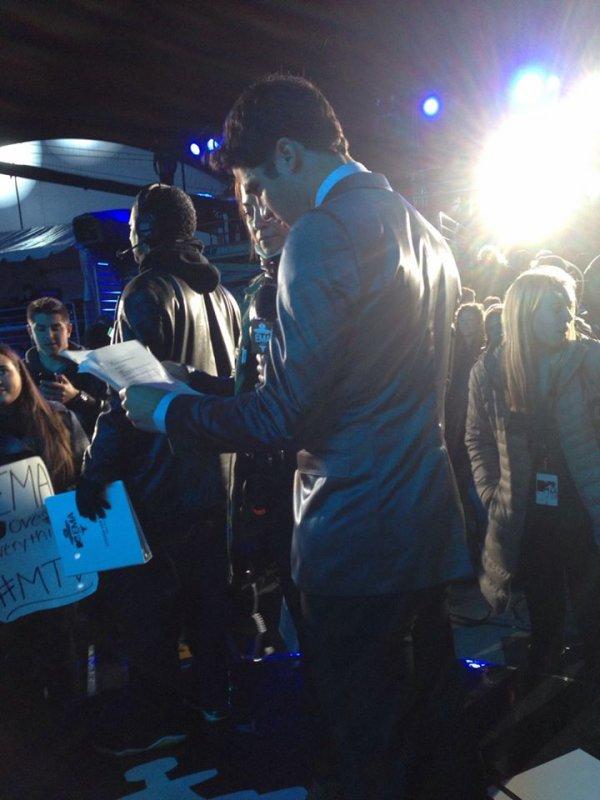 Darren au MTV EMA's 2013 le 10/11/2013