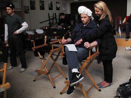 Sur le tournage de la saison 1 de Glee