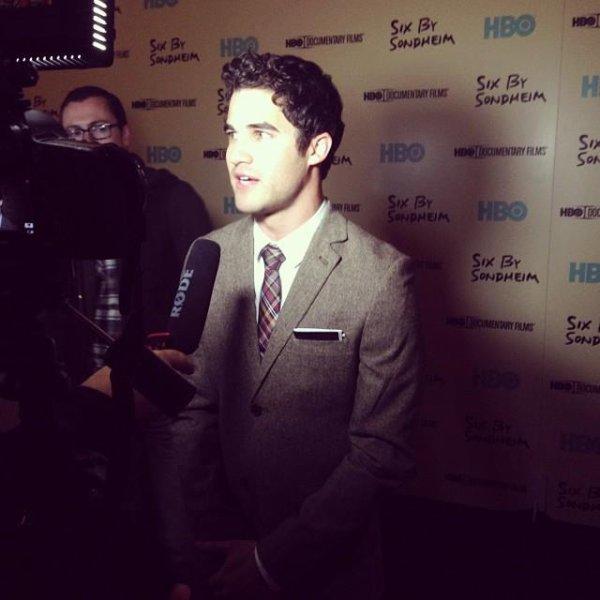"""Darren à l'avant première du doc """"Six by Sondheim"""""""