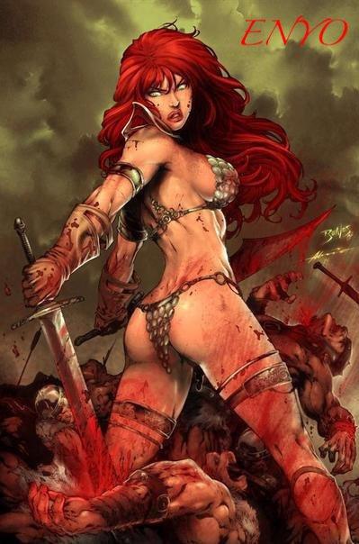 Déesse des batailles grecque. Elle est étroitement liée à Ares