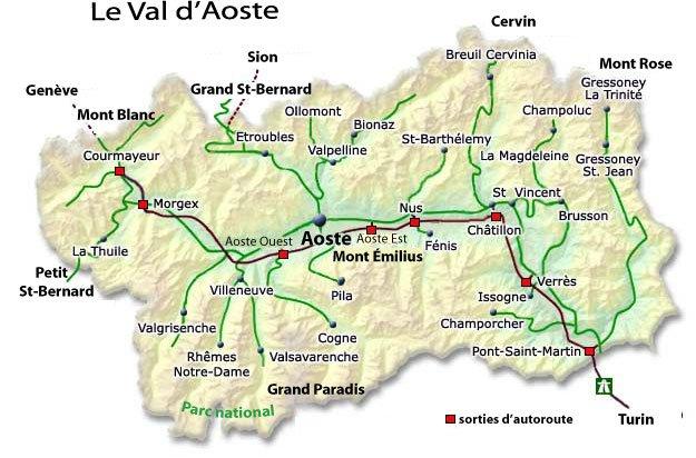 Les Provinces _ Vallée d'Aoste