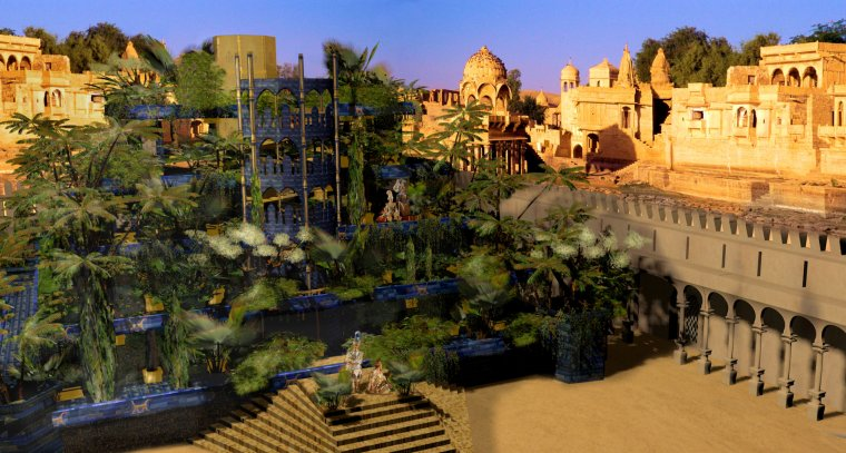 Jardins suspendus de babylone g ographie de la terre for Architecture perse