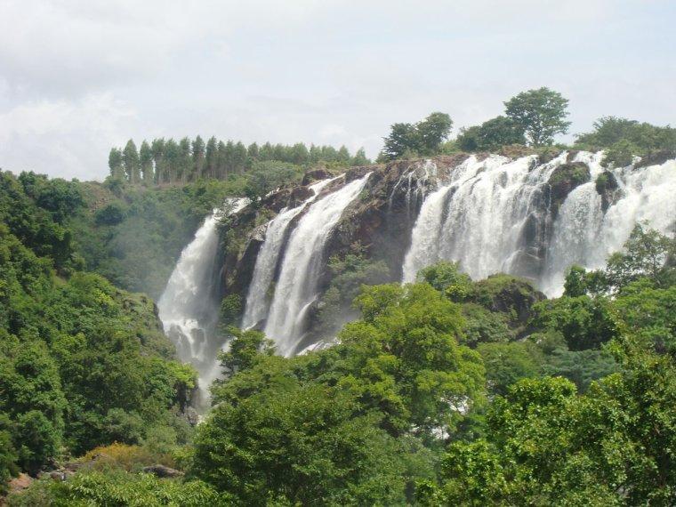 Chutes d'eau en Inde