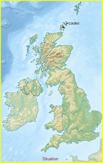 Îles et archipels  -  Les Orcades