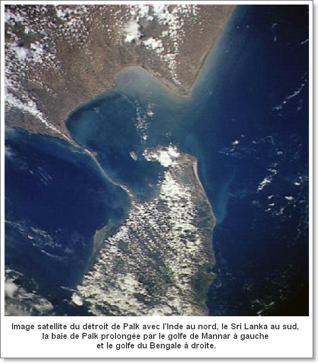 Océan Indien  -  Détroit de Palk