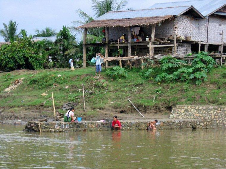 Birmanie  -  Bassin de Irrawaddy