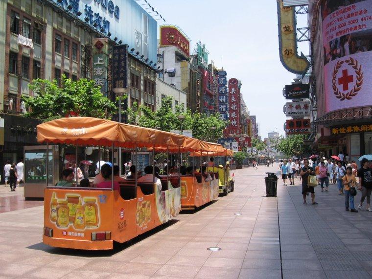 Chine  -  Rue de Nankin (Shanghai)