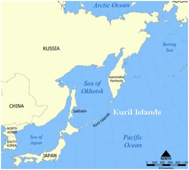 Océan Pacifique  -  Kuril Islands