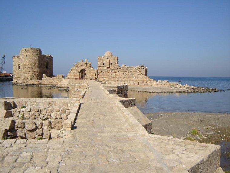 Moyen-Orient  -  Fortifications des croisades