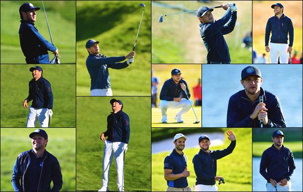 """"""" • 25/09/18 — Niall Horan a participé au match de la « Ryder Cup » ayant lieu durant le Golf National de Paris, en France ! """""""