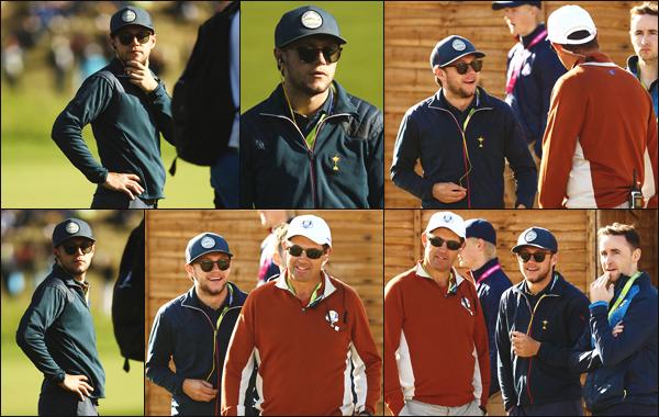 """"""" • 29/09/18 — Niall Horan a participé au match de la « Ryder Cup » ayant lieu durant le Golf National de Paris, en France ! """""""