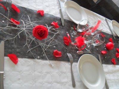 d coration blanc rouge et noir mariage la d co de marie. Black Bedroom Furniture Sets. Home Design Ideas