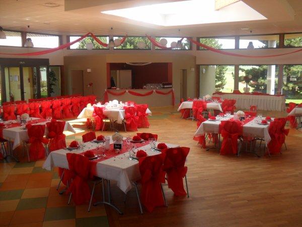 Decoration Restaurant Rouge : Décoration mariage rouge et blanc la déco de marie