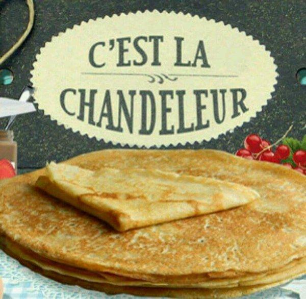 Bonjour les Amis aujourd'hui c'est la chandeleur donc je vous souhaite de manger de très bonnes crêpes. ❤
