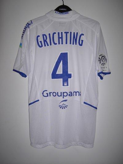 Maillot porté Stéphane Grichting 2010/2011