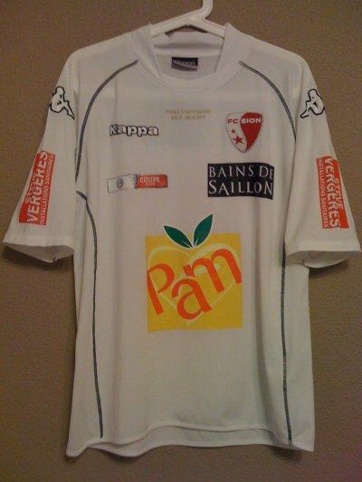 Maillot porté Karim Yoda Finale coupe Suisse 2011