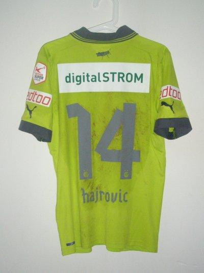 Maillot porté Izet Hajrovic Sion-Grasshoppers 2012/2013