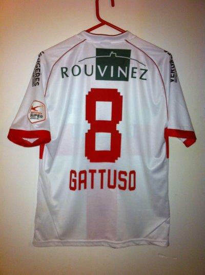 Maillot porté Gennaro Gattuso !!! Fc Sion-St-gallen 12/13
