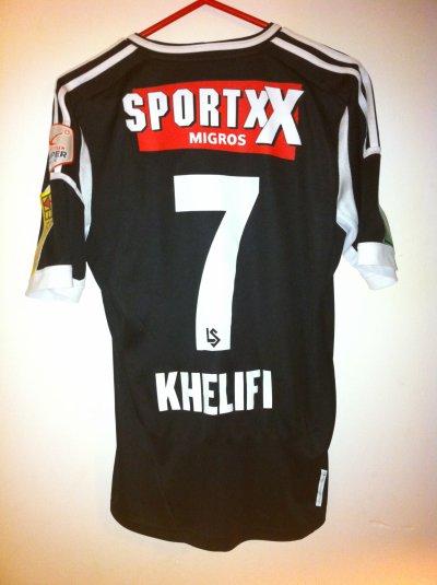 Maillot porté Salim Khelifi Sion-Lausanne 12/13