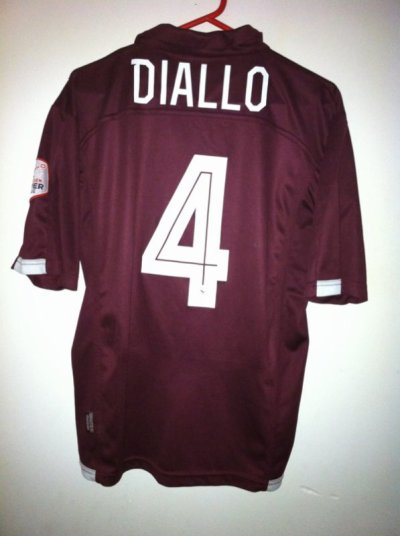 Maillot porté Issaga Diallo Fc Sion-Servette Fc 2012/2013