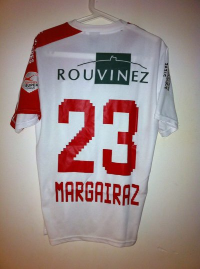 Maillot porté Xavier Margairaz 2012-1013