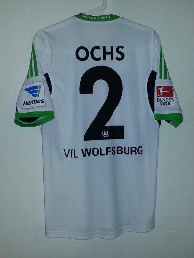 Maillot porté P.Ochs Wolfsburg - St-Etienne (Valais Summer Cup 2013)