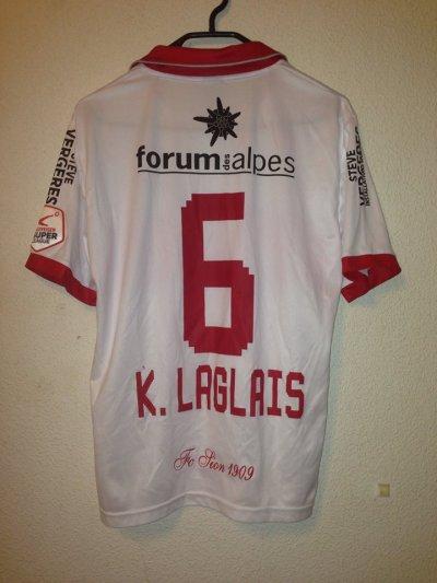 Maillot porté Xavier Laglais Kouassi Fc Sion 2013/2014
