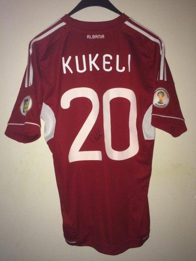 Maillot porté Kukeli qualif WC14