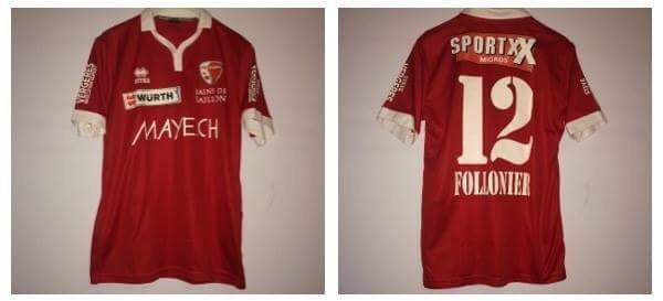 Maillot du Fc Sion porté lors de la 1/2Finale de coupe Suisse par Daniel Follonier (Sion vainqueur de la coupe 3-0 contre le Fc BÂLE ! )