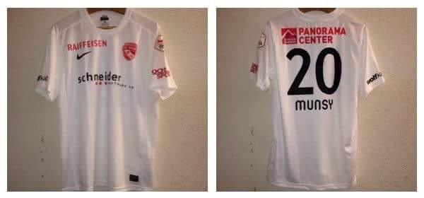 Maillot du FC Thun porté par Ridge Munsy 14/15
