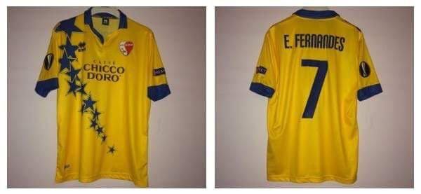 Maillot du Fc Sion porté par Edimilson Fernandes contre Liverpool 1-1 en Europa League 15/16