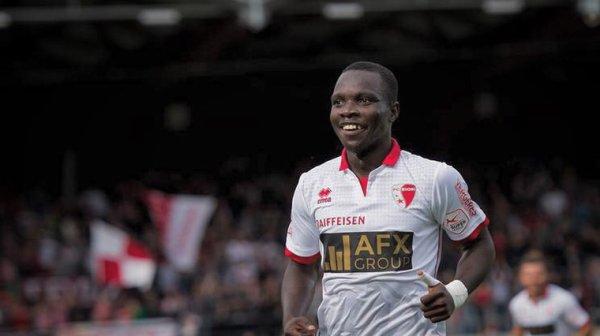 Maillot porté du Fc Sion par Chadrac Akolo 2buts lors de ce match 16/17
