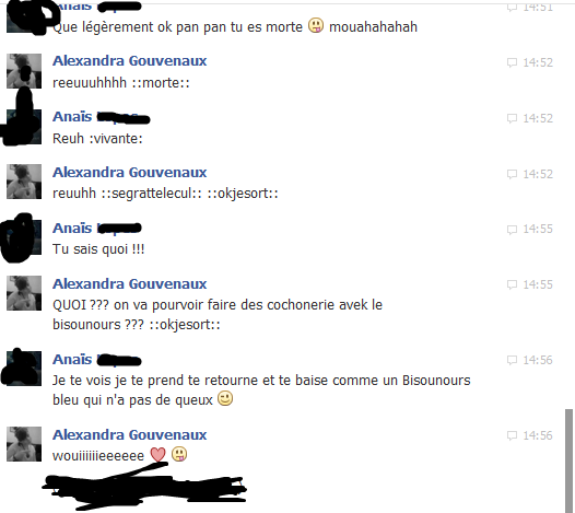 conversation ( 2 ) avek ma confidente <3