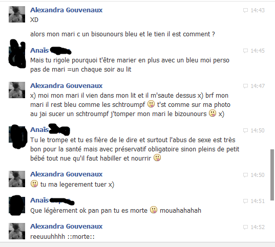 conversation ( 1 ) avek ma confidente <3