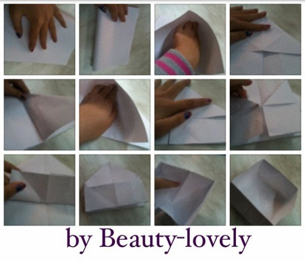 Origami boîte facile / Tuto +' vidéo